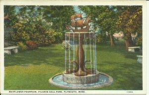Mayflower Fountain, Pilgrim Hall Park, Plymouth Mass.