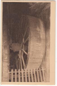 France, Mont-Saint-Michel, Abbaye, La Roue monte-charge, unused Postcard CPA