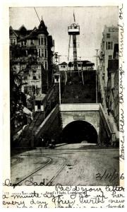 California  Los Angeles , Angel's Flight , Tunnel