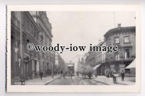 tp8976 - Tram on High Street , Doncaster , Yorkshire - postcard
