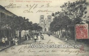 Hanoi, Cathedrale vue de face Tonkin Vietnam, Viet Nam Postal Used Unknown, S...