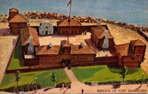 Illinois Chicago 1933 Century Of Progress Model Of Fort Dearborn
