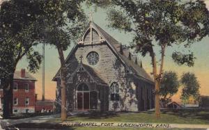 Exterior, Post Chapel, Fort Leavenworth, Kansas,00-10s