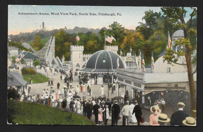 Amusement Arena West View Park Pittsburgh PA Used c1917