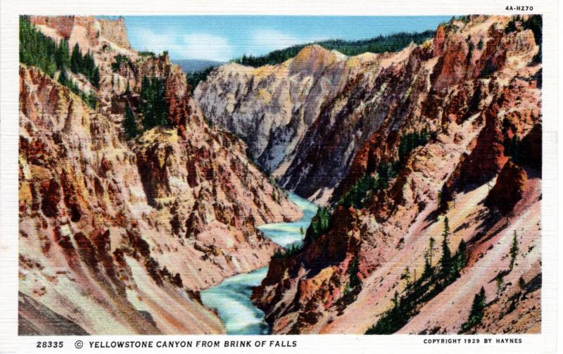 YELLOWSTONE NATIONAL PARK Haynes Linen Series.  28335.