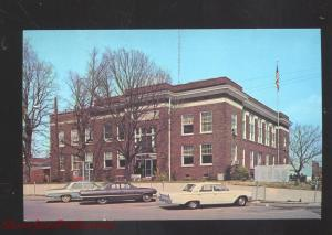 BENTON KENTUCKY MARSHALL COUNTY COURT HOUSE 1960's CARS VINTAGE POSTCARD