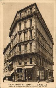 CPA Marseille (Dep.13) Grand Hotel de Genéve Société á responsabilité (2030)
