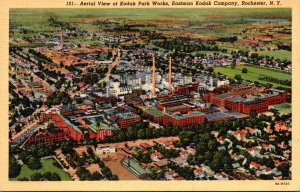 New York Rochester Aerial View Of Kodak Park Works Eastman Kodak Company Curt...