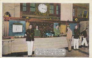 CINCINNATI , Ohio , 1910s ; Registration Desk, Hotel Sinton , W/Staff
