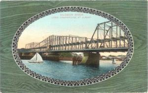 D/B Hudson River Long Drawbridge at Albany NY New York