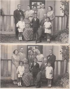 Lot 2 photo postcards 1934 Romania family social history Nasaud by Tatay Stefan