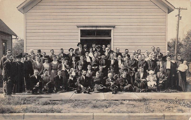 Elklhart Indiana~Mennonite? Conference Group Photo~On to Union City~1909 RPPC