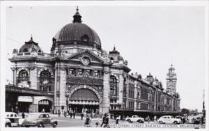 Australia Melbourne Flinders Street Railway Station Real Photo