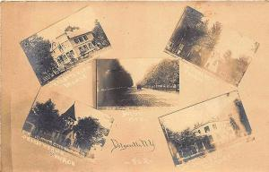 Dolgeville NY Multi-View Street View Church RPPC Postcard
