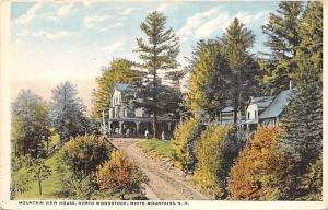 North Woodstock New Hampshire~Mountain View House~Dirt Road~1920s PC