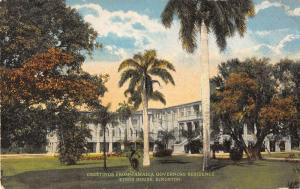 Kingston Jamaica Greetings From governors residence antique pc Y14694