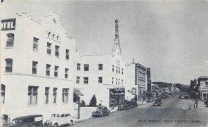 COEUR D'ALENE ID Main Street Scene Idaho Vintage Postcard ca 1940s