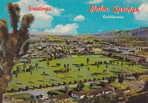 California Greetings From Palm Springs Showing O'Donnell Golf Course