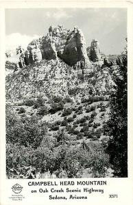 RPPC of Campbell Head Mountain Sedona Arizona AZ 1947