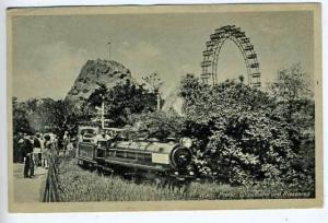 Austria Wien Amusement Miniature Train Postcard