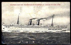 Metrpolitan Steamship Co. Steamer Harvard CDS 1909