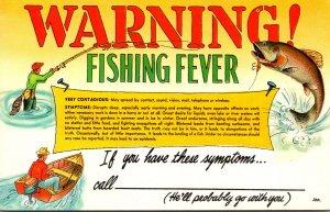 Humour Warning Fishing Fever