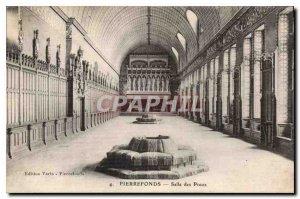 Old Postcard Pierrefonds Preux Hall