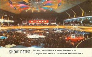 Auto Show Motorama 1954 Interior General Motors Postcard 20-1179