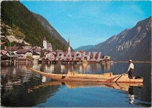 Modern Postcard Hallstatt die uralte Salzsiedlung Hallstatter am See