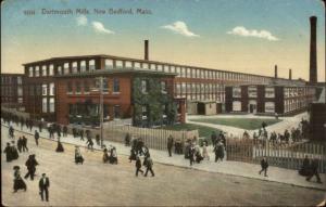 New Bedford MA Dartmouth Mills c1910 Postcard