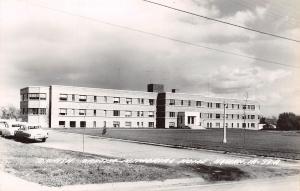 Harlan IA Danish Lutheran Memorial Home~RPPC 1950s Cars