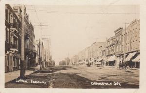 RP: ORANGEVILLE , Ontario, Canada, 1900-10s ; Central Broadway