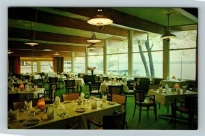 Barrie ON-Ontario Canada, The Bayshore Motor Hotel, Dining Room, Chrome Postcard