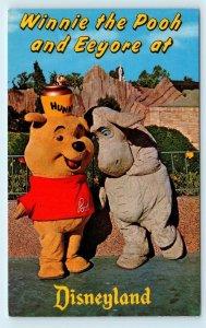DISNEYLAND, CA ~  WINNIE the POOH & EEYORE -Oh, Bother! c1960s   Postcard