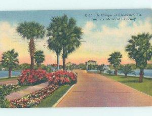 Pre-Chrome ROAD SCENE Clearwater - Near Tampa Florida FL AH6507