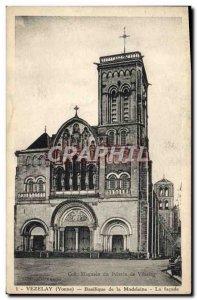 Old Postcard Vezelay Basilica De La Madeleine La facade