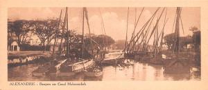 Alexandrie Egypt, Egypte, Africa Barques sur Canal Mahmoudieh, small size pos...
