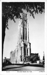 New York, Riverside Church, auto cars 1935