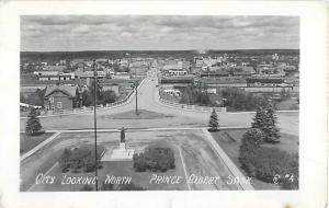 RPPC of the City Looking North, Prince Albert, Saskatchewan, Canada,