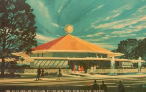 ​Vintage Postcard Billy Graham Pavilion At The New York World's Fair NY
