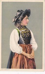 Switzerland Luzern Local Girl In Traditional Costume sk4287