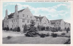 ELIZABETHTOWN, Pennsylvania, 1900-1910's; Allegheny County Memorial Masonic H...