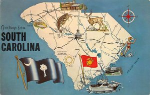 Maps South Carolina USA Unused