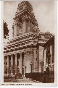 London; Port Of London Authority Building RP PPC, Unposted c 1930's