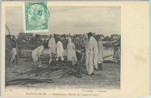 80165 -  MADAGASCAR -  Vintage Postcard - ETHNIC : Ampanalana  1906 SUGAR