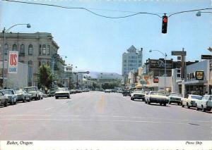 Oregon  Baker  1960's Main Street , US Bank, Levi S and H Green Stamps