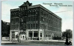 Grand Island, Nebraska Postcard PALMER HOUSE Hotel View C.U. Williams c1910s
