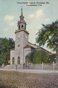 Maine Portland First Parish Church 1912