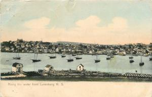 Lunenburg NS Bldg w/Gambrel Roofs~Big Sailboats 1908 Gautlier/Dr Hobbs~Chicago