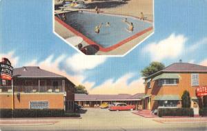 Salt Lake City Utah pool and entrance American Autel linen antique pc Z21477